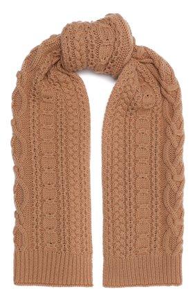 Женский шерстяной шарф BALLY бежевого цвета, арт. L7LR472K-8J453/696 | Фото 1