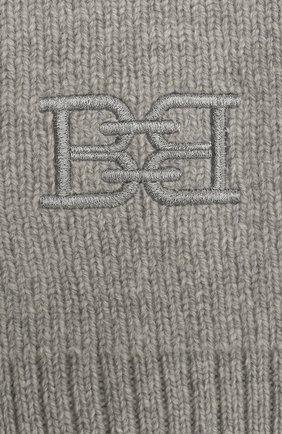 Женский шарф из шерсти и кашемира BALLY серого цвета, арт. L7LR473K-8J460/227 | Фото 2