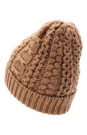 Женский шерстяная шапка BALLY коричневого цвета, арт. L8LR057K-8J453/335   Фото 2