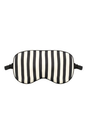 Женские шелковая маска для сна OLIVIA VON HALLE черно-белого цвета, арт. CT0007 | Фото 1