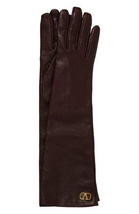 Женские кожаные перчатки VALENTINO бордового цвета, арт. UW2GCA14/WJW | Фото 1