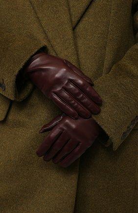 Женские кожаные перчатки VALENTINO бордового цвета, арт. UW2GCA14/WJW | Фото 2