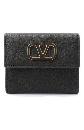 Женские кожаное портмоне valentino garavani VALENTINO черного цвета, арт. UW2P0T39/ACY | Фото 1