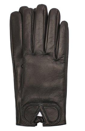 Женские кожаные перчатки VALENTINO черного цвета, арт. UW2GDA15/IDM | Фото 1