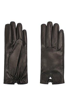 Женские кожаные перчатки VALENTINO черного цвета, арт. UW2GDA15/IDM | Фото 2