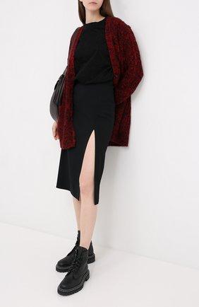 Женская юбка из вискозы REDVALENTINO черного цвета, арт. UR3RAE50/3SM | Фото 2