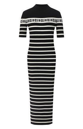 Женское платье из вискозы REDVALENTINO черно-белого цвета, арт. UR3KD00Q/58H | Фото 1