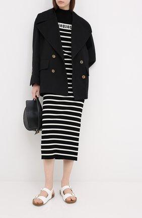 Женское платье из вискозы REDVALENTINO черно-белого цвета, арт. UR3KD00Q/58H | Фото 2