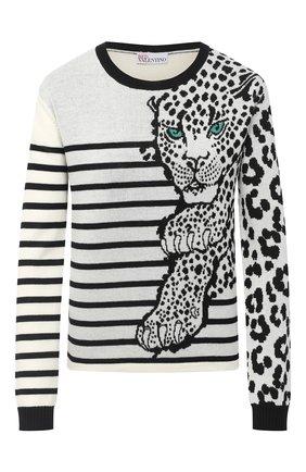 Женская шерстяной пуловер REDVALENTINO черно-белого цвета, арт. UR3KC00H/580 | Фото 1