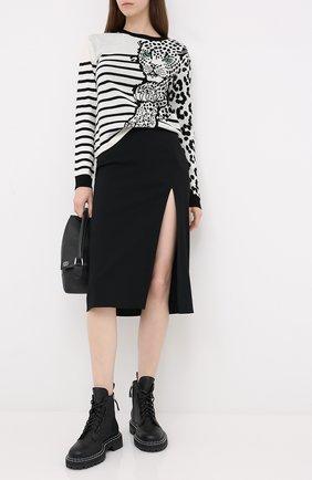 Женская шерстяной пуловер REDVALENTINO черно-белого цвета, арт. UR3KC00H/580 | Фото 2
