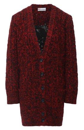 Женский шерстяной кардиган REDVALENTINO красного цвета, арт. UR3KA00A/58C | Фото 1