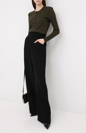 Женский пуловер из кашемира и шелка TOM FORD хаки цвета, арт. MAK982-YAX087 | Фото 2