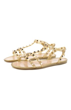 Женские сандалии valentino garavani rockstud VALENTINO золотого цвета, арт. UW2S0H38/LMF | Фото 1