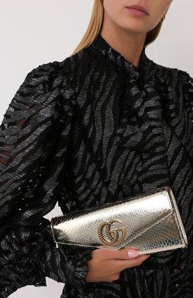 Женский клатч broadway из кожи питона GUCCI серебряного цвета, арт. 594101/L1H0T/PRET | Фото 2