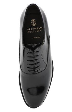 Мужские кожаные оксфорды BRUNELLO CUCINELLI черного цвета, арт. MZUSUMK937 | Фото 5