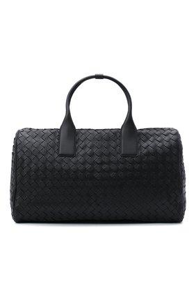 Мужская кожаная дорожная сумка BOTTEGA VENETA черного цвета, арт. 630251/VCRL2 | Фото 1
