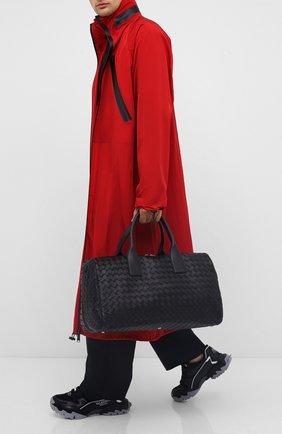 Мужская кожаная дорожная сумка BOTTEGA VENETA черного цвета, арт. 630251/VCRL2 | Фото 2
