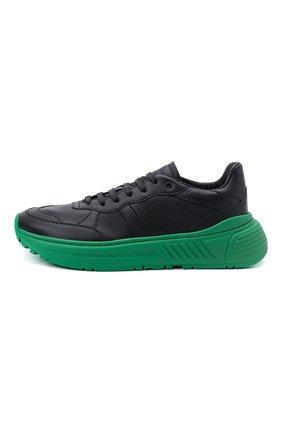 Мужские кожаные кроссовки BOTTEGA VENETA черного цвета, арт. 565646/VT040   Фото 3 (Материал внешний: Кожа; Материал внутренний: Натуральная кожа; Стили: Гранж; Подошва: Массивная)