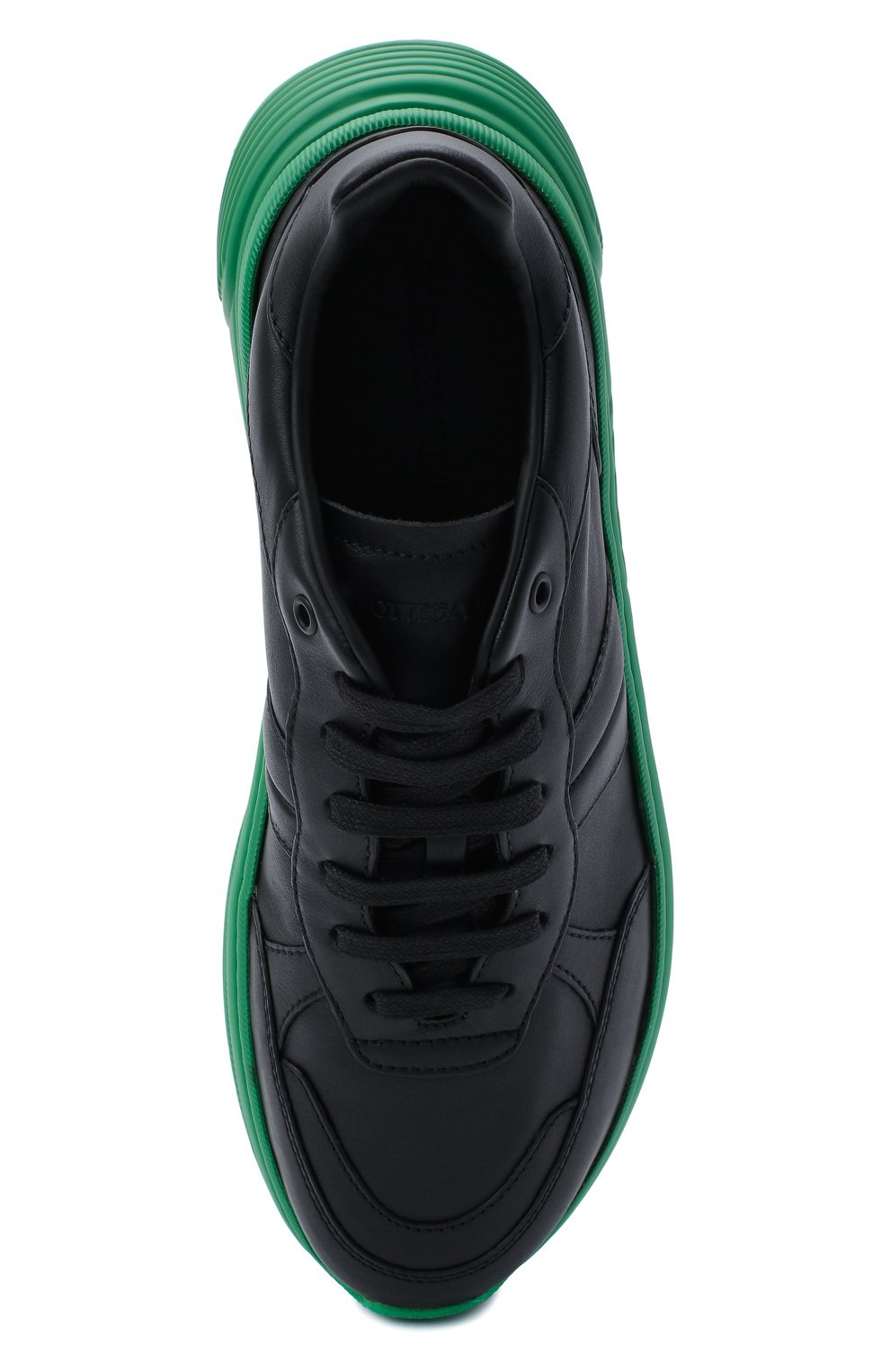 Мужские кожаные кроссовки BOTTEGA VENETA черного цвета, арт. 565646/VT040   Фото 5 (Материал внешний: Кожа; Материал внутренний: Натуральная кожа; Стили: Гранж; Подошва: Массивная)
