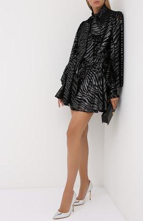 Женская кожаные туфли gianvito 105 GIANVITO ROSSI серебряного цвета, арт. G28470.15RIC.MCRARGE | Фото 2