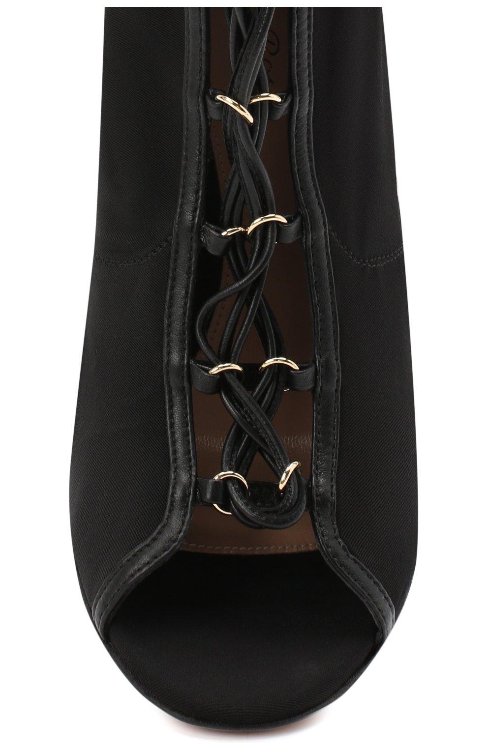 Женские текстильные ботильоны stevie GIANVITO ROSSI черного цвета, арт. G50661.15RIC.N0KNENE   Фото 5