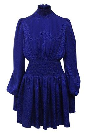 Женское шелковое платье BALMAIN синего цвета, арт. UF16306/S055 | Фото 1