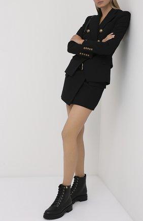 Женский шерстяной жакет BALMAIN черного цвета, арт. UF17110/167L | Фото 2