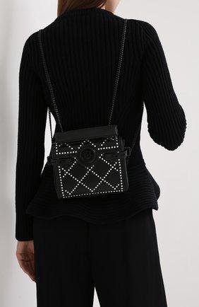 Женский рюкзак bbuzz 18 BALMAIN черного цвета, арт. UN1S522/ANGS | Фото 2