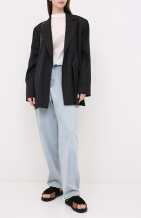 Женские кожаные сандалии fussbett MARNI черного цвета, арт. FBMS005201/P3580 | Фото 2