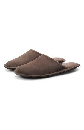 Женского туфли комнатные HOMERS AT HOME коричневого цвета, арт. 19456/ANTE | Фото 1