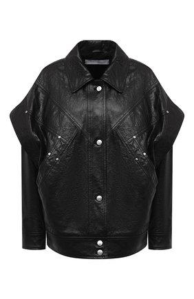 Женская кожаная куртка IRO черного цвета, арт. WP08MALASPY | Фото 1