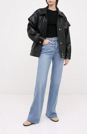 Женская кожаная куртка IRO черного цвета, арт. WP08MALASPY | Фото 2