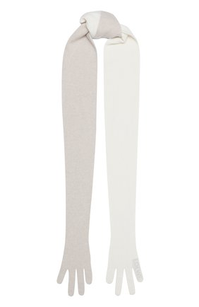 Мужские кашемировый шарф LOEWE белого цвета, арт. F811487X07 | Фото 1