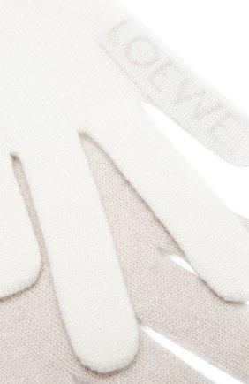 Мужские кашемировый шарф LOEWE белого цвета, арт. F811487X07 | Фото 2