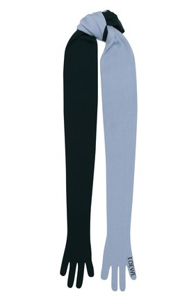 Мужские кашемировый шарф LOEWE зеленого цвета, арт. F811487X07 | Фото 1