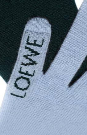Мужские кашемировый шарф LOEWE зеленого цвета, арт. F811487X07 | Фото 2