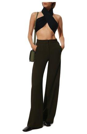 Женская шаль LOEWE темно-синего цвета, арт. F811255X01 | Фото 2