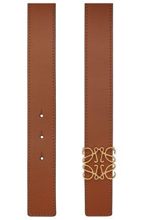 Женский кожаный ремень LOEWE светло-коричневого цвета, арт. 515.01.011   Фото 2 (Материал: Кожа)