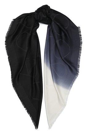 Женская шелковая шаль VALENTINO черного цвета, арт. UW2EC085/ZBE | Фото 1
