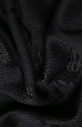 Женская шелковая шаль VALENTINO черного цвета, арт. UW2EC085/ZBE | Фото 2