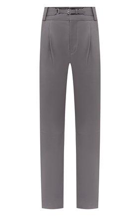 Женские кожаные брюки REDVALENTINO серого цвета, арт. UR3NF00E/5BW | Фото 1