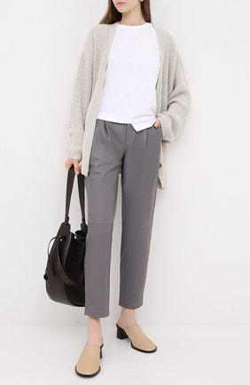 Женские кожаные брюки REDVALENTINO серого цвета, арт. UR3NF00E/5BW | Фото 2