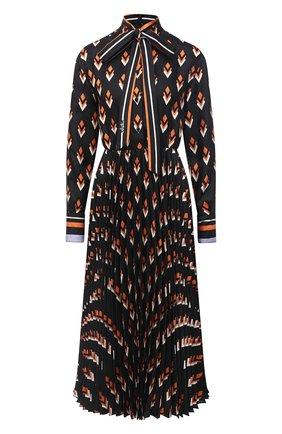 Женское шелковое платье VALENTINO черного цвета, арт. UB3VATB55LB | Фото 1