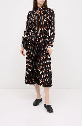 Женское шелковое платье VALENTINO черного цвета, арт. UB3VATB55LB | Фото 2