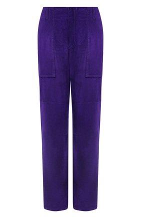 Женские замшевые брюки TOM FORD фиолетового цвета, арт. PAL704-LEX226 | Фото 1