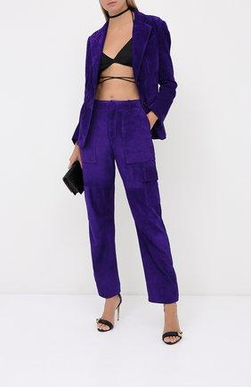 Женские замшевые брюки TOM FORD фиолетового цвета, арт. PAL704-LEX226 | Фото 2
