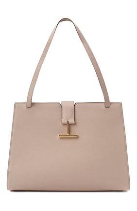 Женская сумка tara TOM FORD бежевого цвета, арт. L1343T-LCL083 | Фото 1