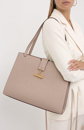 Женская сумка tara TOM FORD бежевого цвета, арт. L1343T-LCL083 | Фото 2