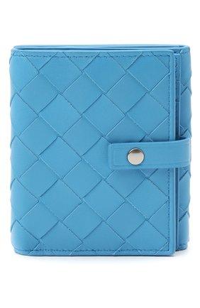 Женские портмоне BOTTEGA VENETA синего цвета, арт. 608074/VCPP3 | Фото 1