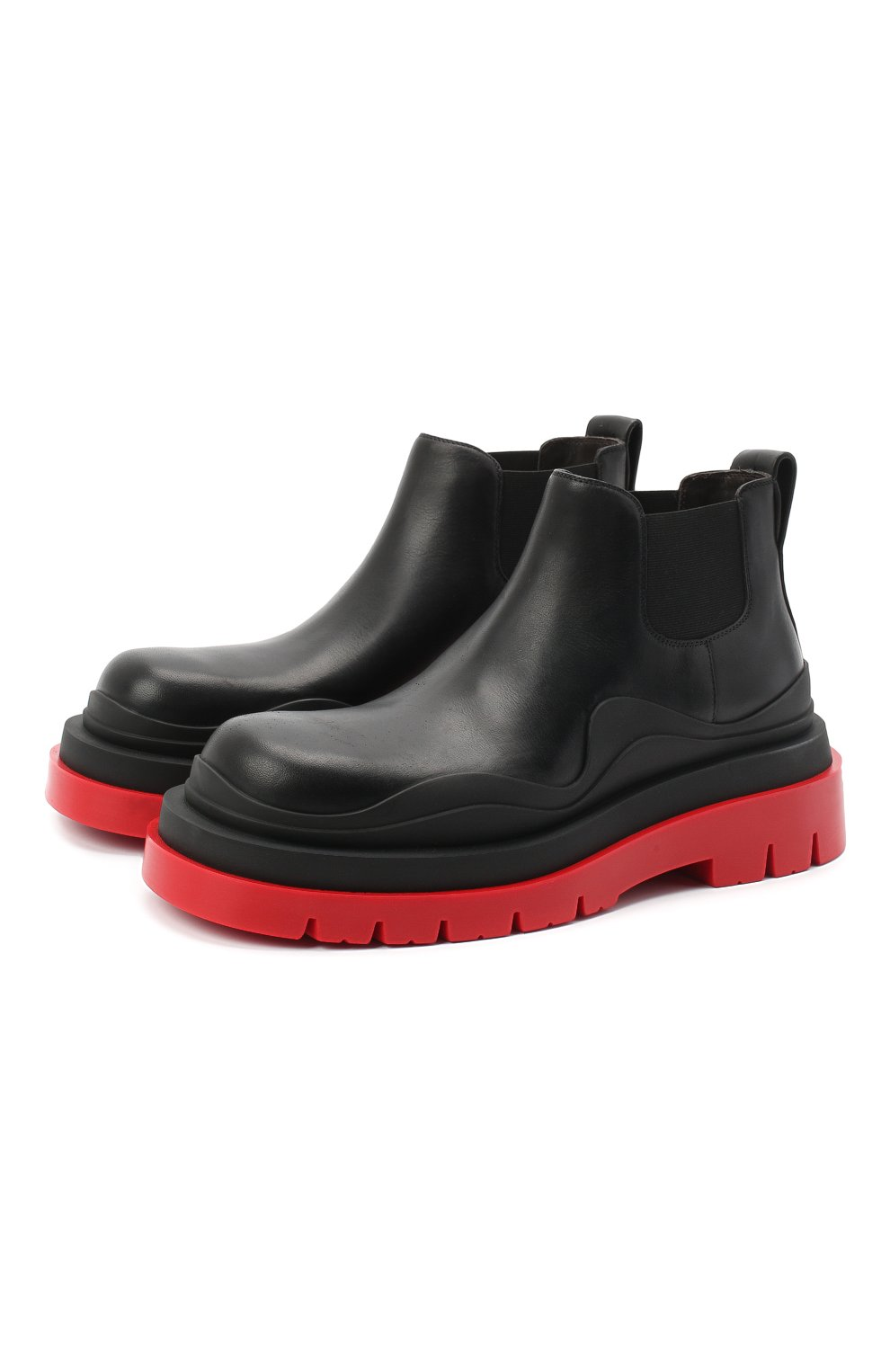 Женские кожаные ботинки bv tire BOTTEGA VENETA черного цвета, арт. 630300/VBS50 | Фото 1